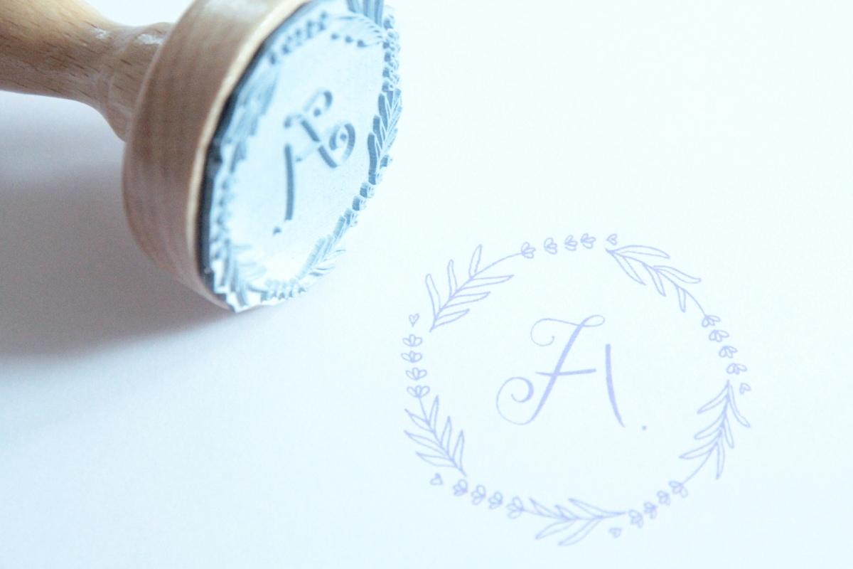 Design Monogram, Stempel, Kundenauftrag, irma link
