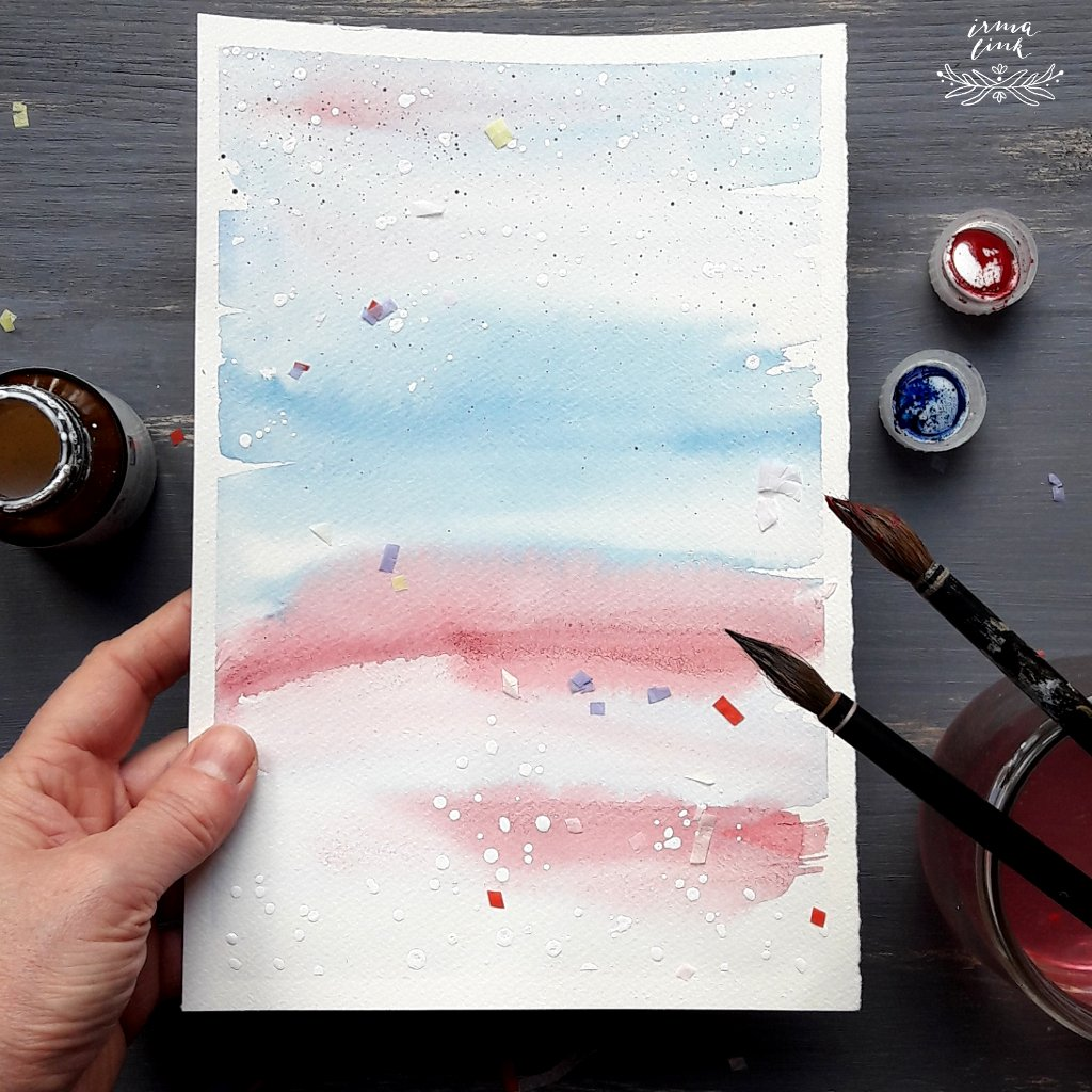 Branding Illustration Aquarell irma link