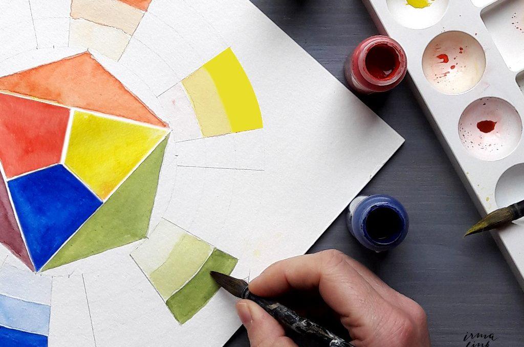 Erfolfreich malen mit der Farbenlehre dem Farbkreis creativity Blog irma link artist