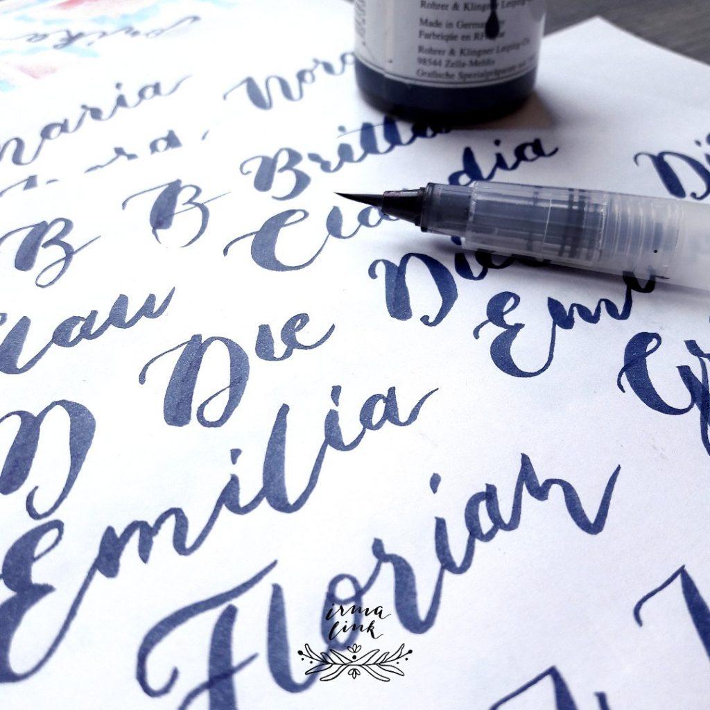 Brushlettering Stile Eventstyling irma link artist