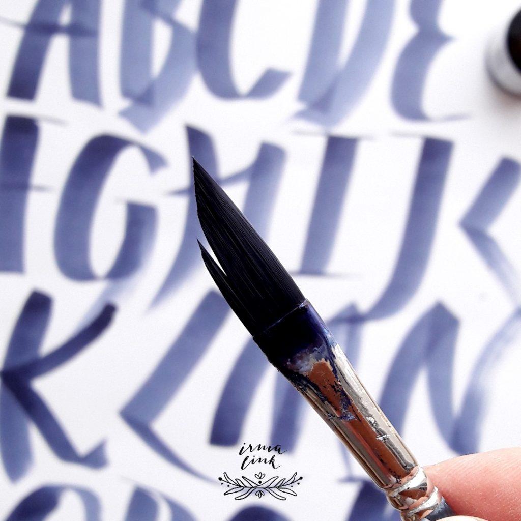 Brushlettering Stile Pinsel irma link artist
