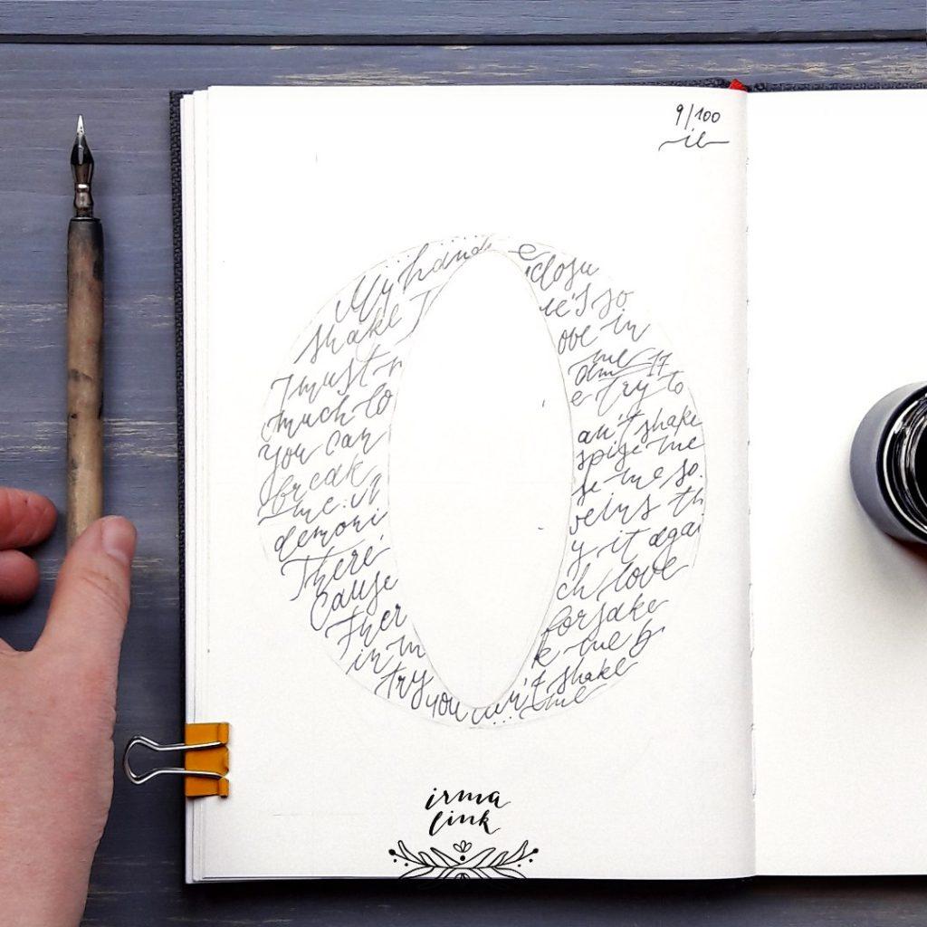 Moderne Kalligrafie Stile FineArt Letter irma link