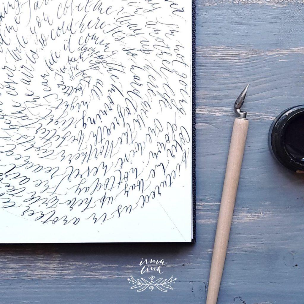 Moderne Kalligrafie Stile FineArt Print irma link