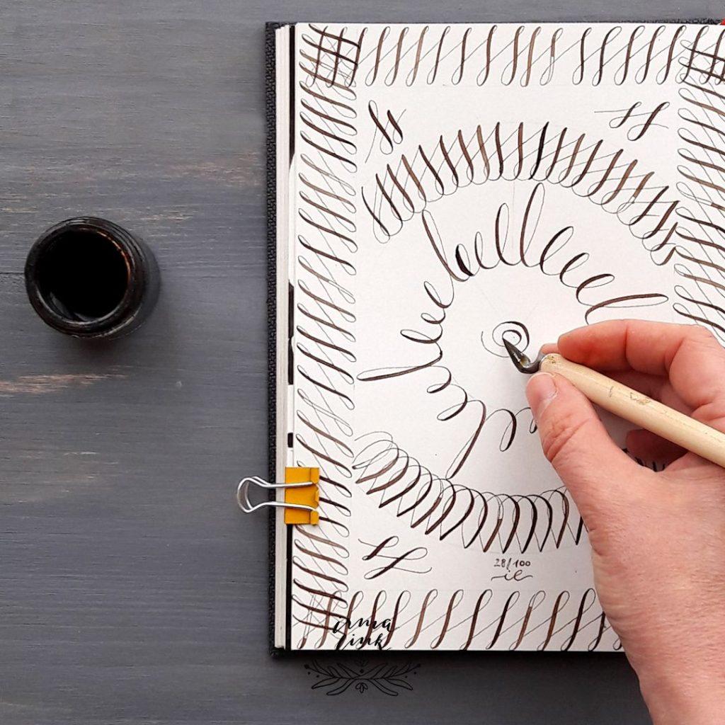 Moderne Kalligrafie Stile FineArt Wandprint irma link