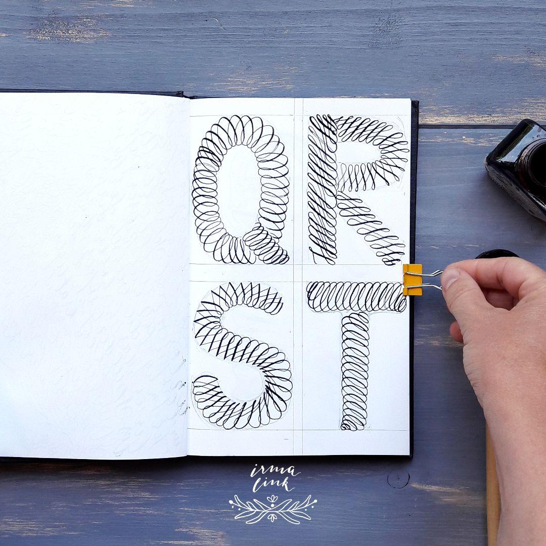 Moderne Kalligrafie Stile Flourishing Letter irma link