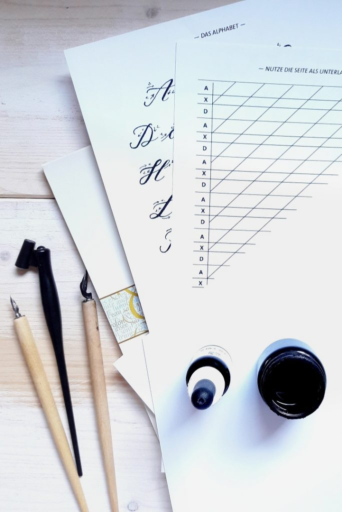 Material-Tipps Moderne Kalligraphie