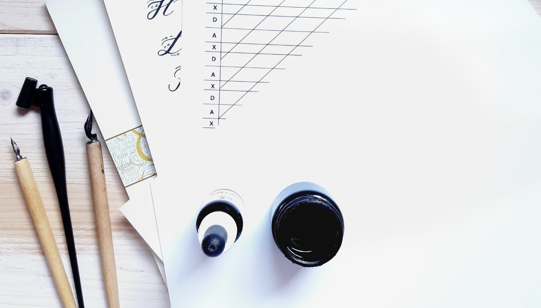 Material Tipps Moderne Kalligraphie lernen Onlinekurs Workshops irma link