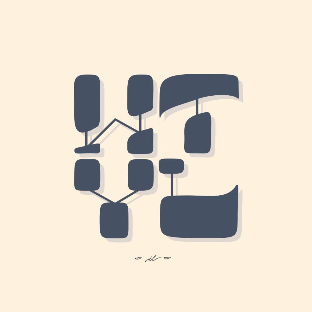 Wertvoll Custom Lettering Branding Corporate Design bio Nachhaltigkeit Werte irma link