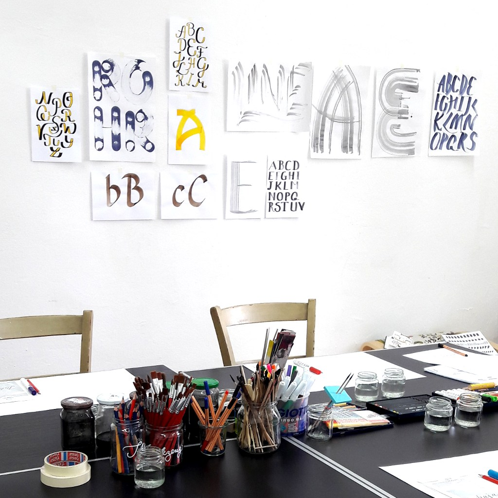 Workshops irma link Illustration Lettering Kalligraphie