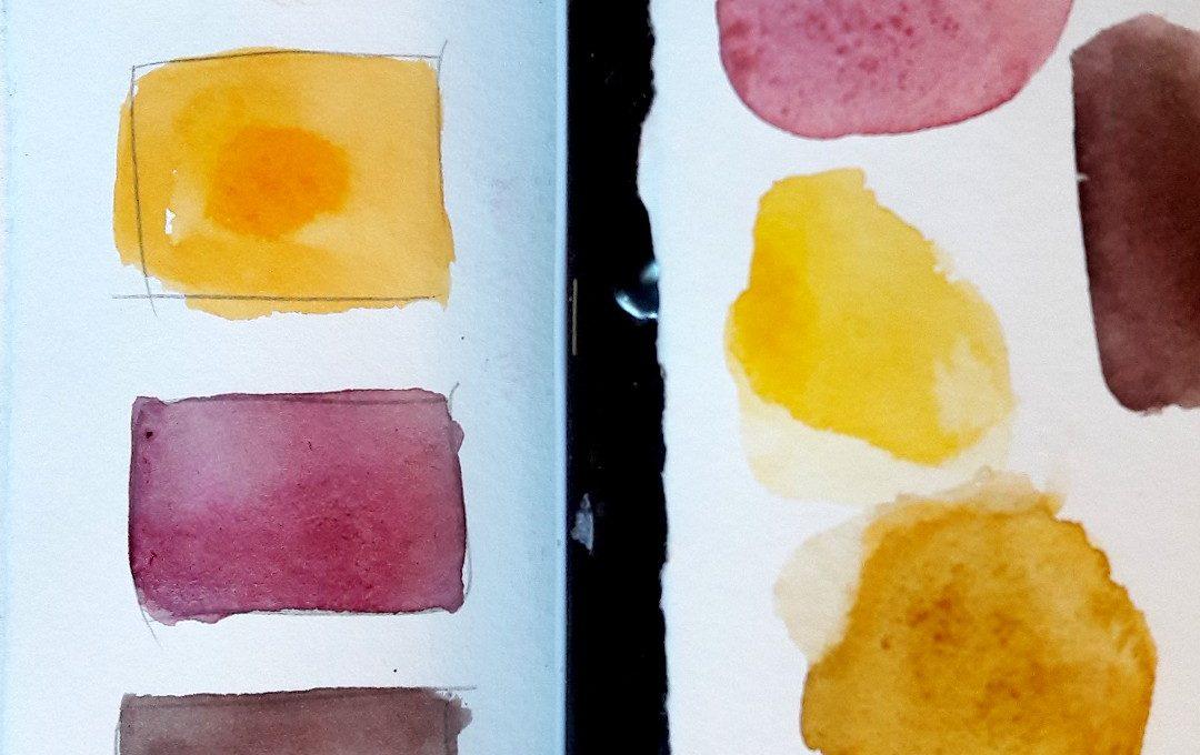 Aquarell malen einfache Motive lernen irma link Illustratorin