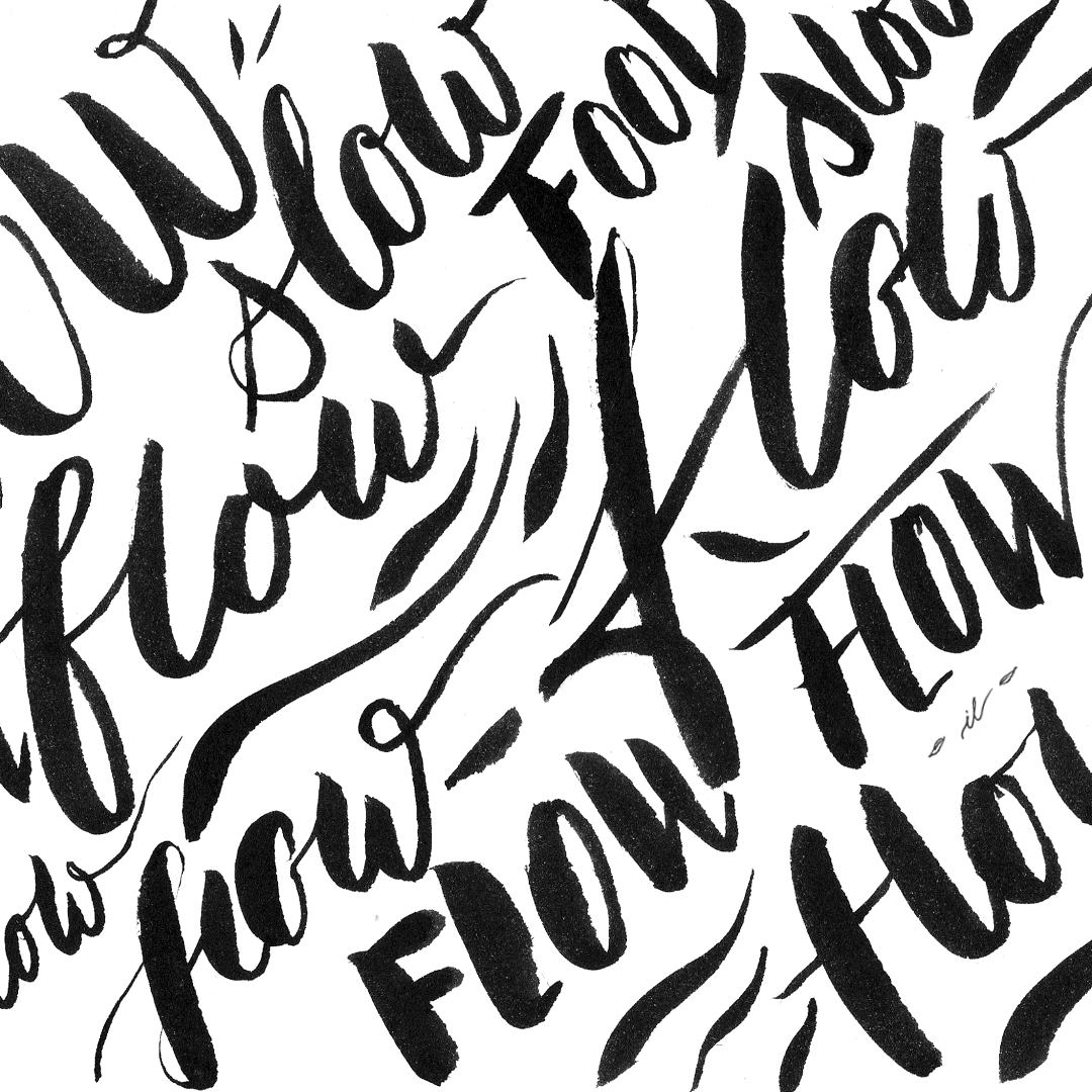 Brushlettering Stile flow slow living Workshop irma link