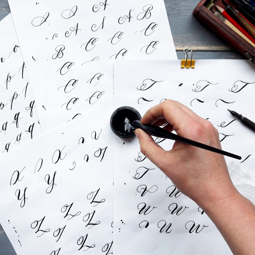 Onlinekurs Moderne Kalligraphie lernen, irma link artist kalligraphie