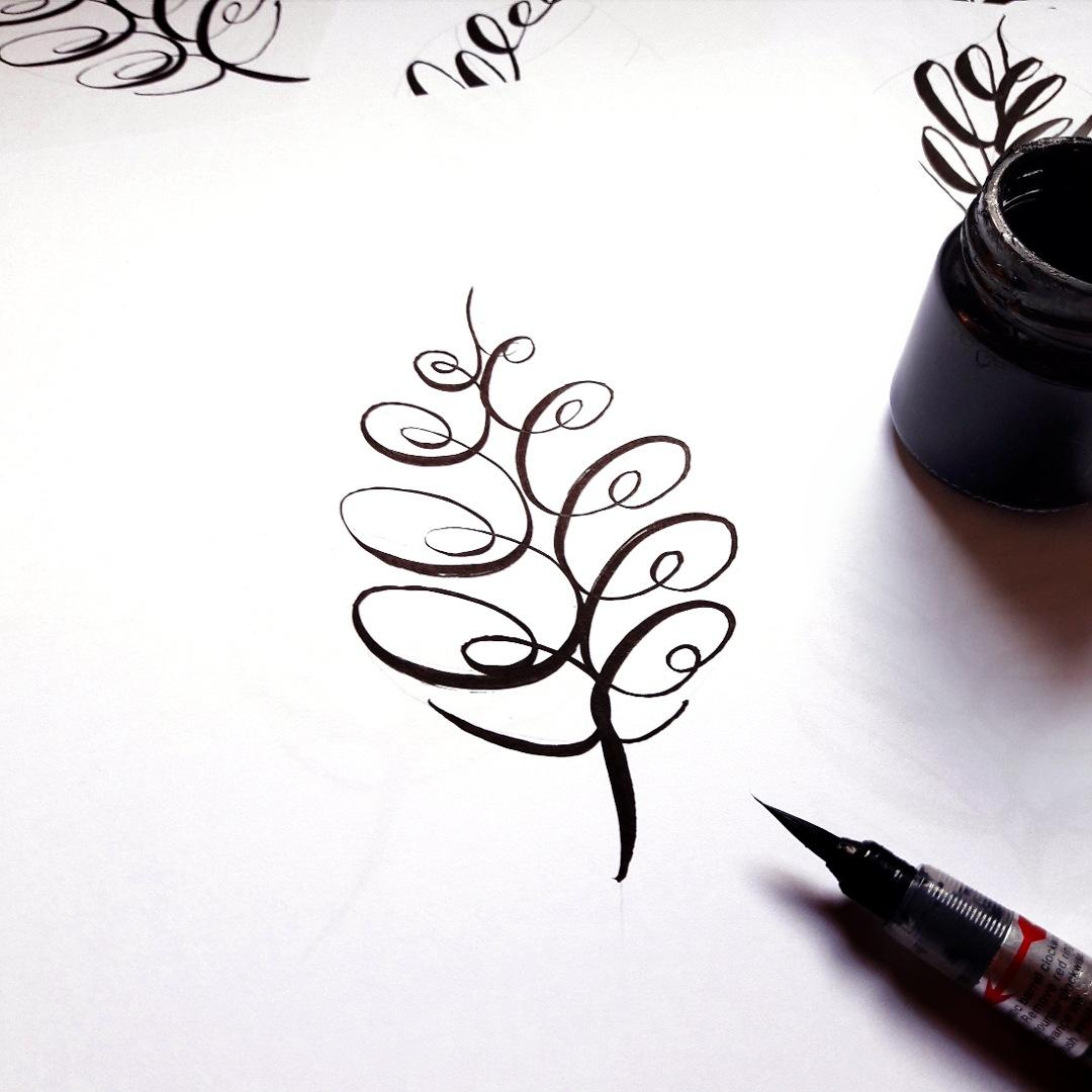 Botanical Flourishing Brushlettering ArtPrint Galerie irma link