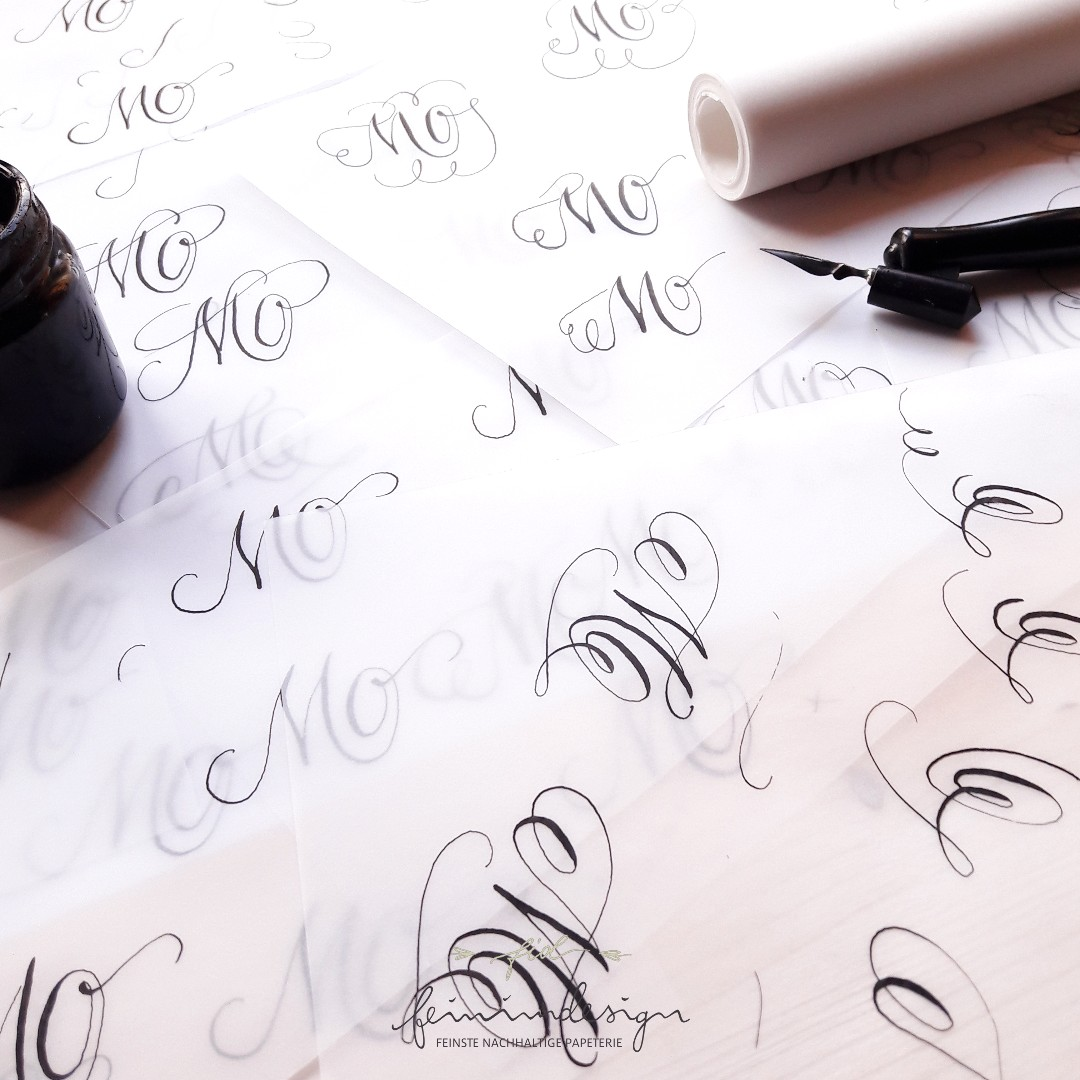 Monogramm Logo Signet Moderne Kalligraphie irma link