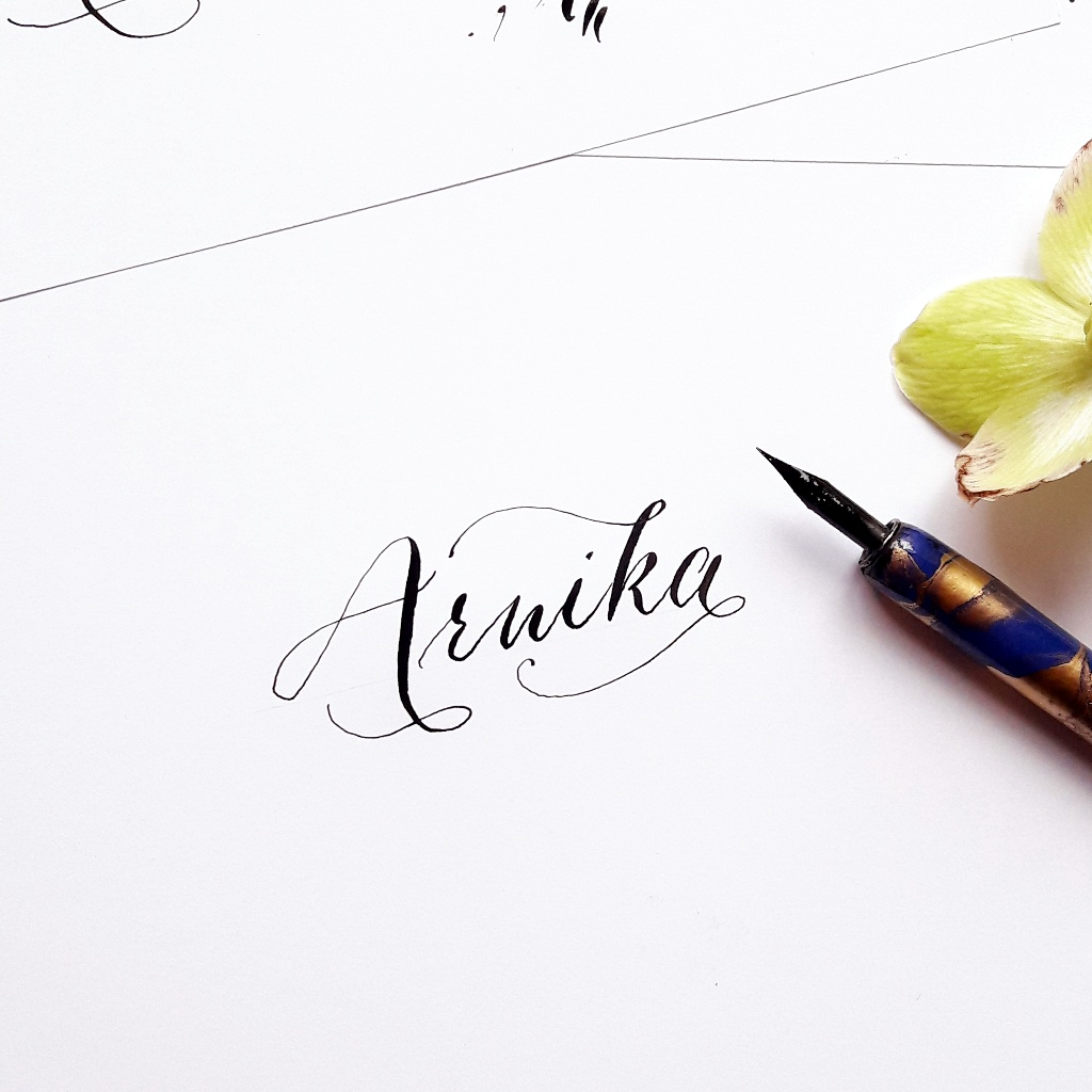 Tutorial-Moderne Kalligraphie lernen Berlin Workshop irma link artist