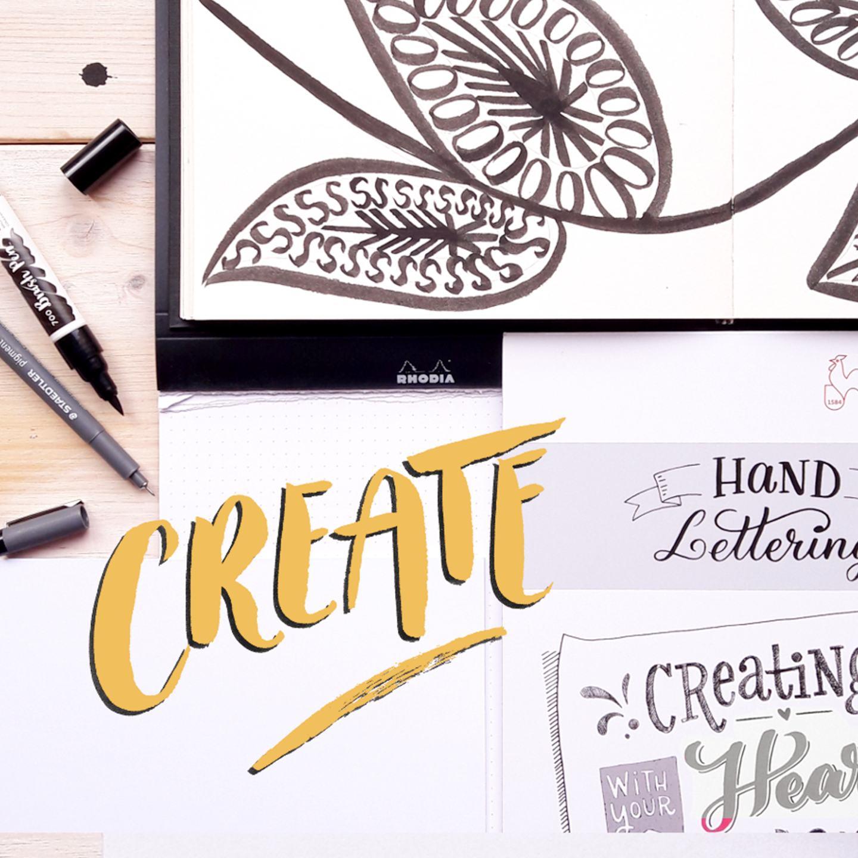 Hand Lettering – Meine Material Empfehlungen Fineliner Brushlettering Blog creativity irmalinkartist
