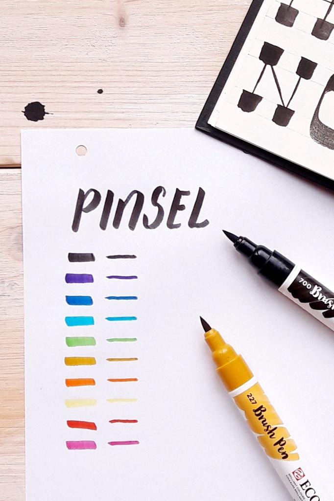 Hand Lettering – Meine Material Empfehlungen Brushpen Pinselstift Brushlettering Blog creativity irmalinkartist