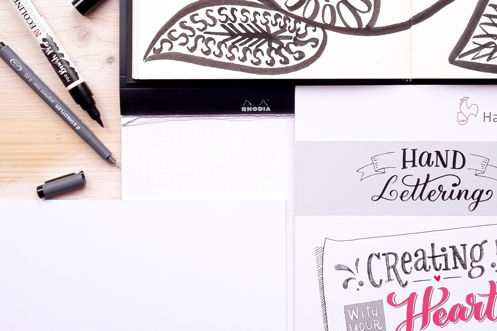 Hand Lettering – Meine Material Empfehlungen Brushpen Papier Brushlettering Blog creativity irmalinkartist