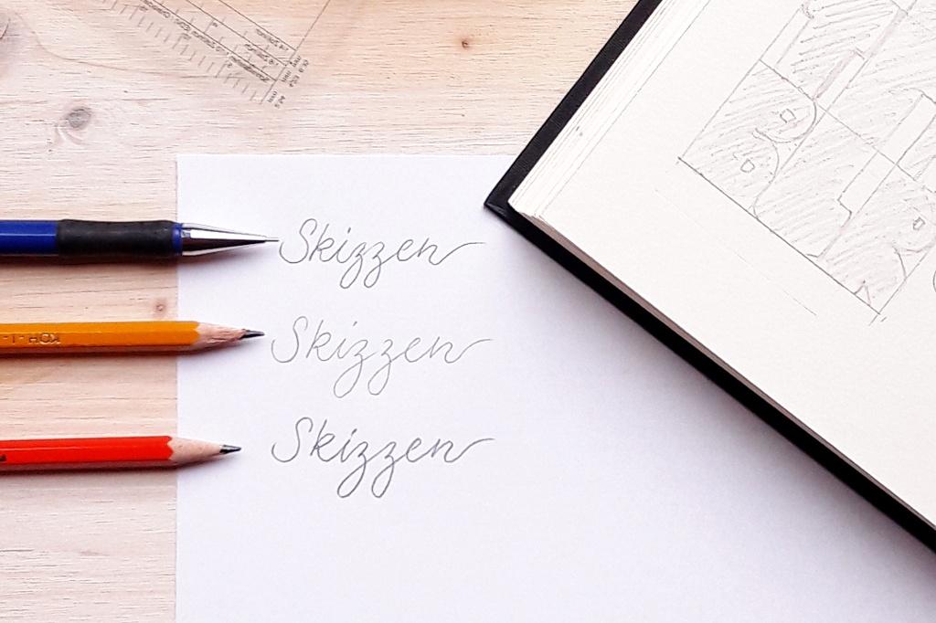 Hand Lettering – Meine Material Empfehlungen Skizzen Bleistift Brushlettering Blog creativity irmalinkartist