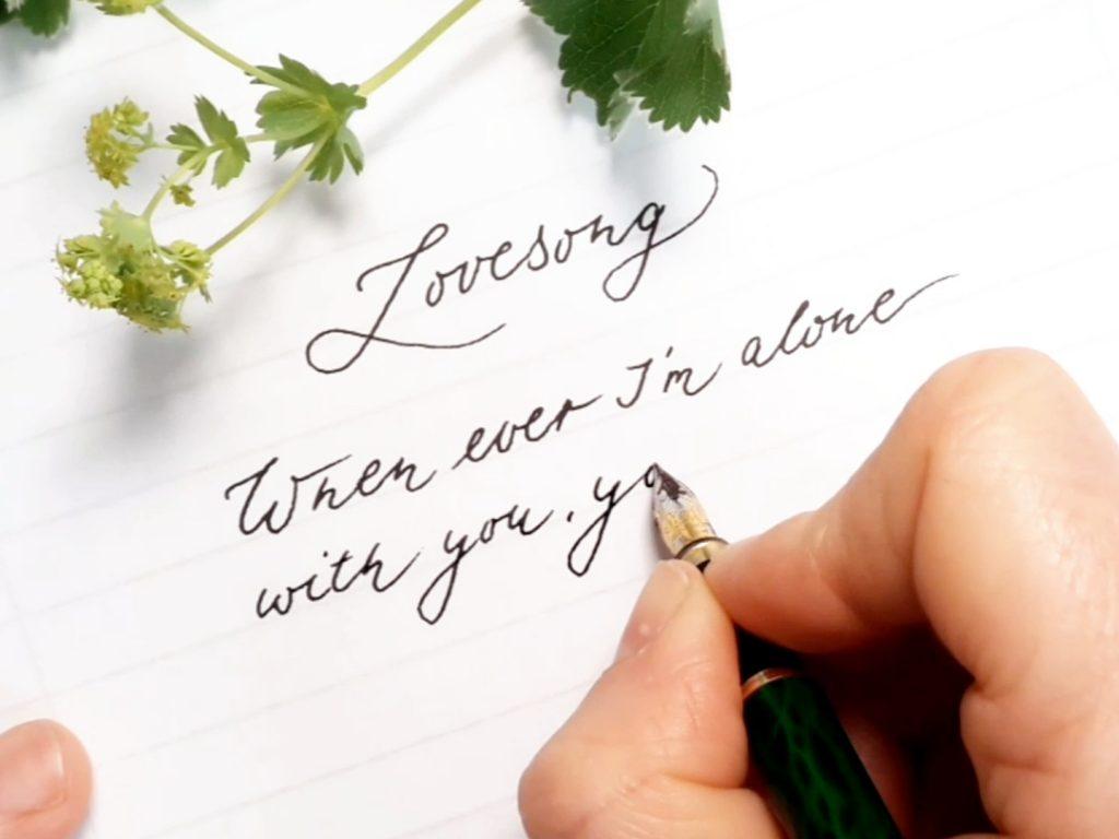Handschrift verbessern 10 einfache Schritte Kalligraphin irma link artist