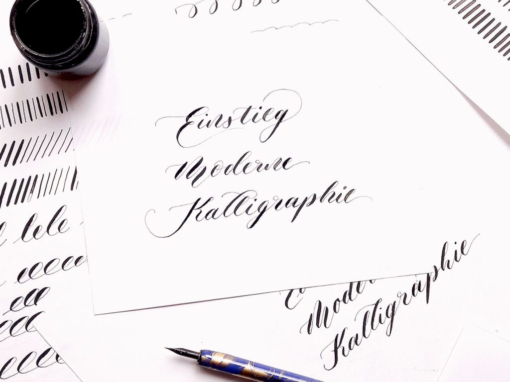 Moderne Kalligraphie berlin Brandenburg Workshops irma link