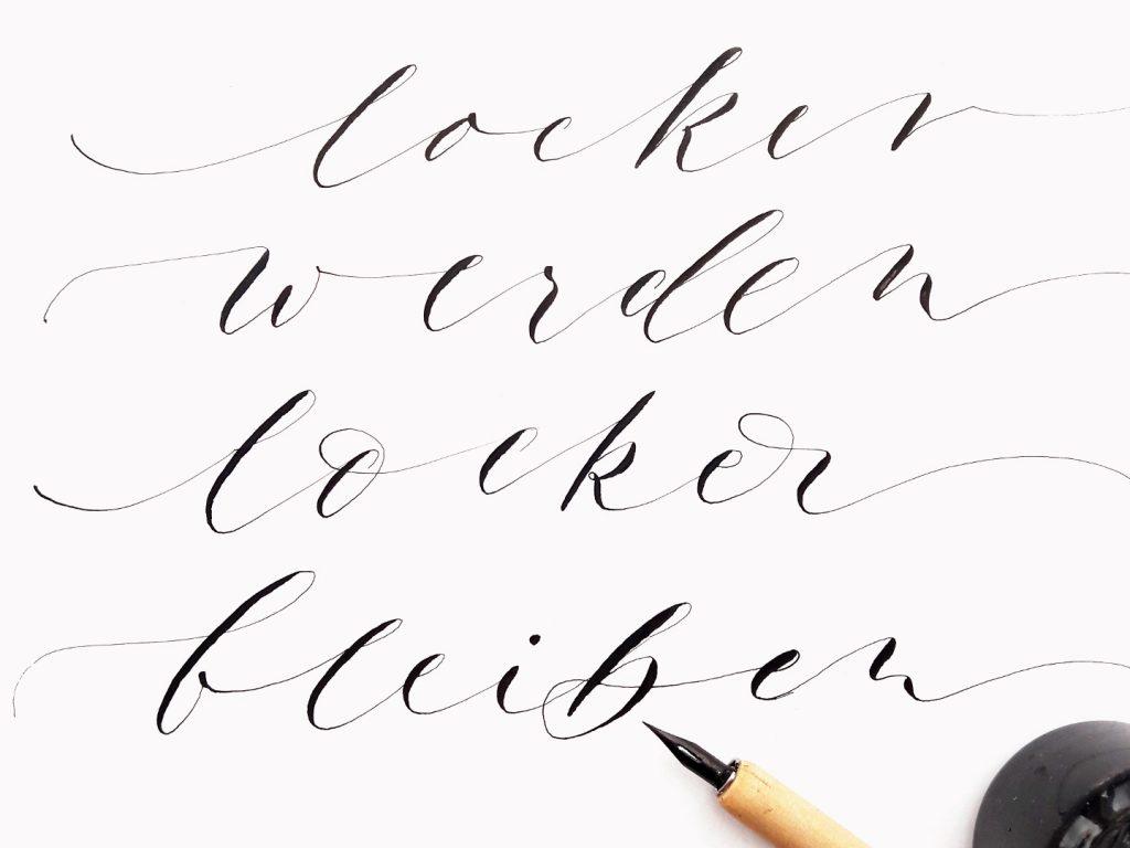 Onlinekurse Moderne Kalligraphie online lernen irma link artist