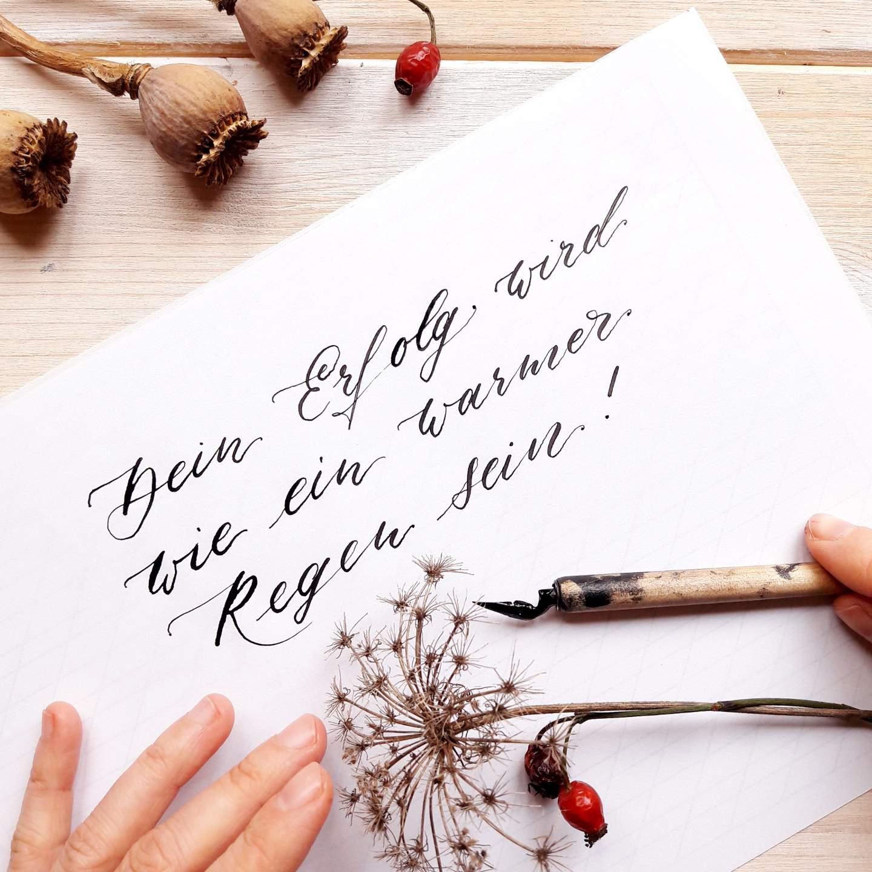 Onlinekurse Modul 2 Intensiv Moderne Kalligraphie online lernen irma link artist