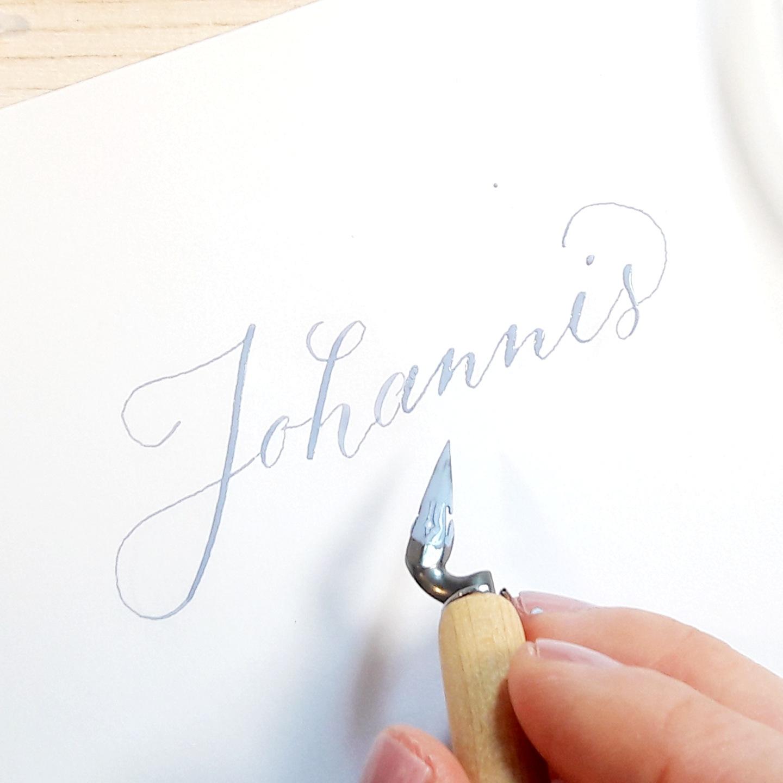 Pastell Tusche für die Moderne Kalligraphie mischen, Blog creativity, irma link