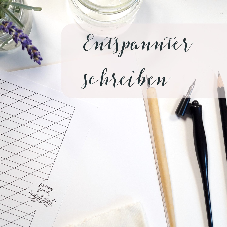 Entspannt Kalligraphie schreiben Blog creativity irma link kalligraphin bb