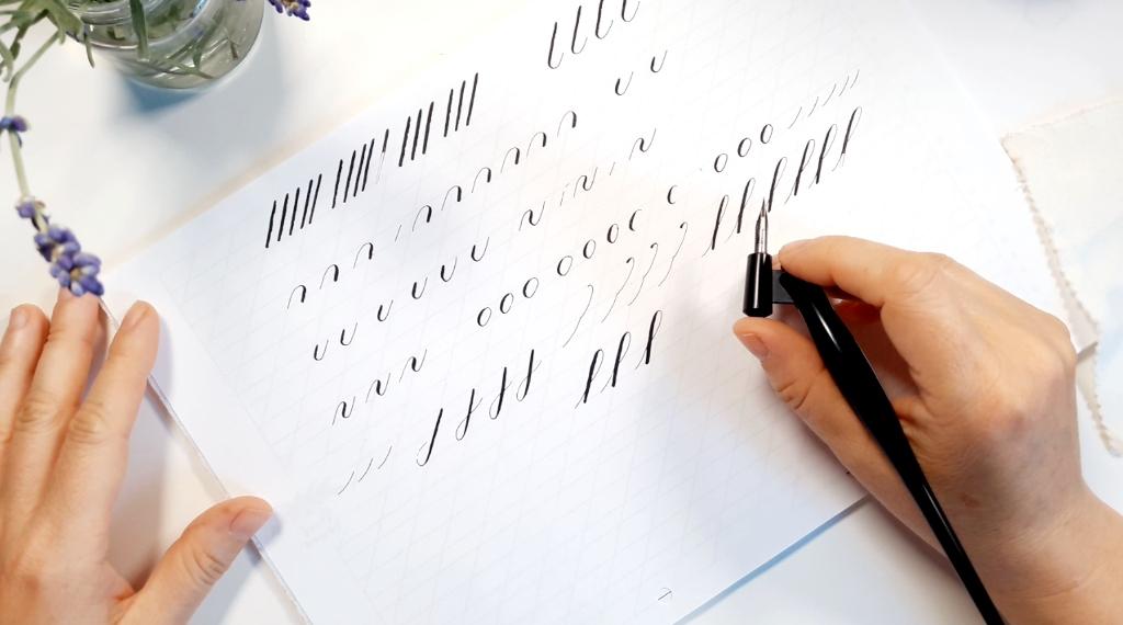 Entspannt Kalligraphie schreiben Blog creativity irma link kalligraphin