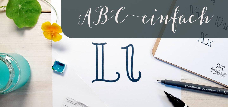 Handlettering Alphabet einfach NewWaveS ABC irma link kalligraphie
