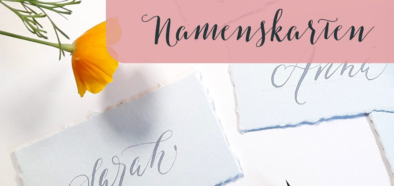 Kalligraphie Namenskarten beschriften DIY irma link Kalligraphie