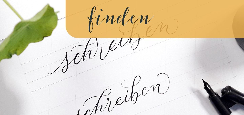 Finde deinen Kalligraphie-Stil Schrift Variationen Varianten Blog Kreativität creativity irma link Beitrag