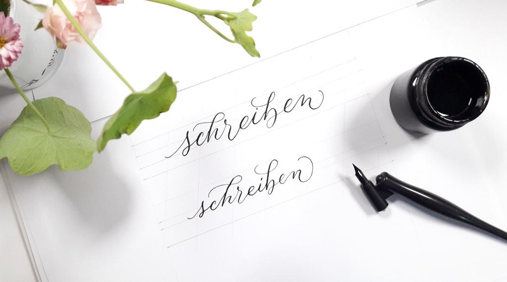 Finde deinen Kalligraphie-Stil Schrift Variationen Varianten Blog Kreativität creativity irma link