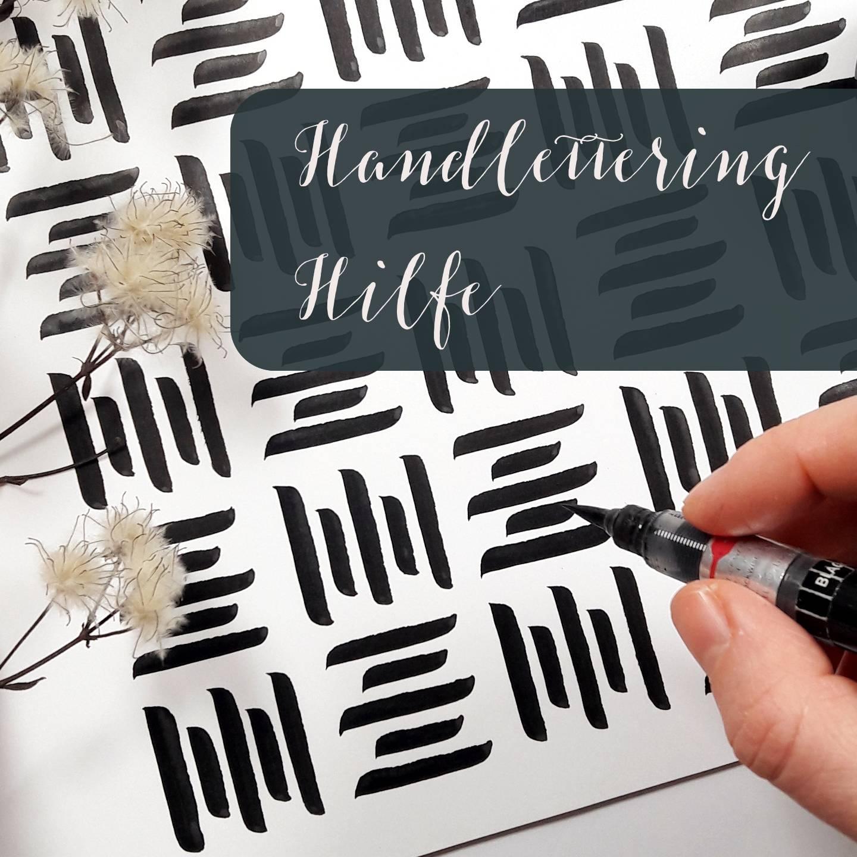 Lettering Hilfe bei ausgefransten Endungen irma link kalligraphie