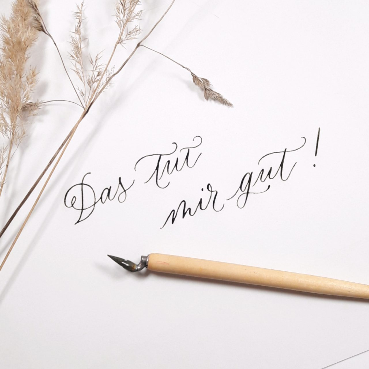 Moderne Kalligraphie Community Wohlfuehltipps auf Instagram irma link Workshops Mindset gute Gedanken