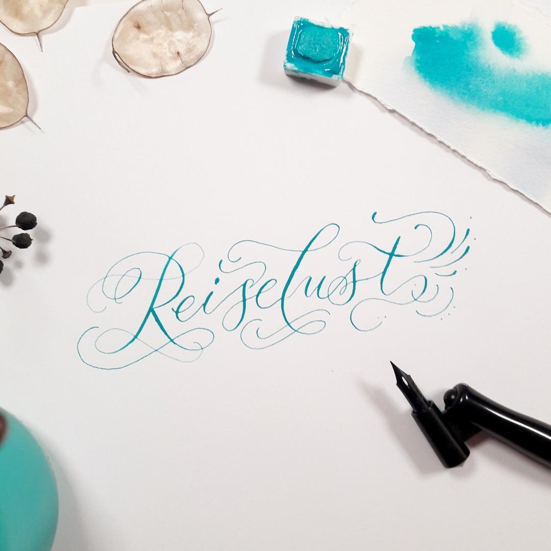 Moderne Kalligraphie lernen Schrift Stil Schönschreiben irma link