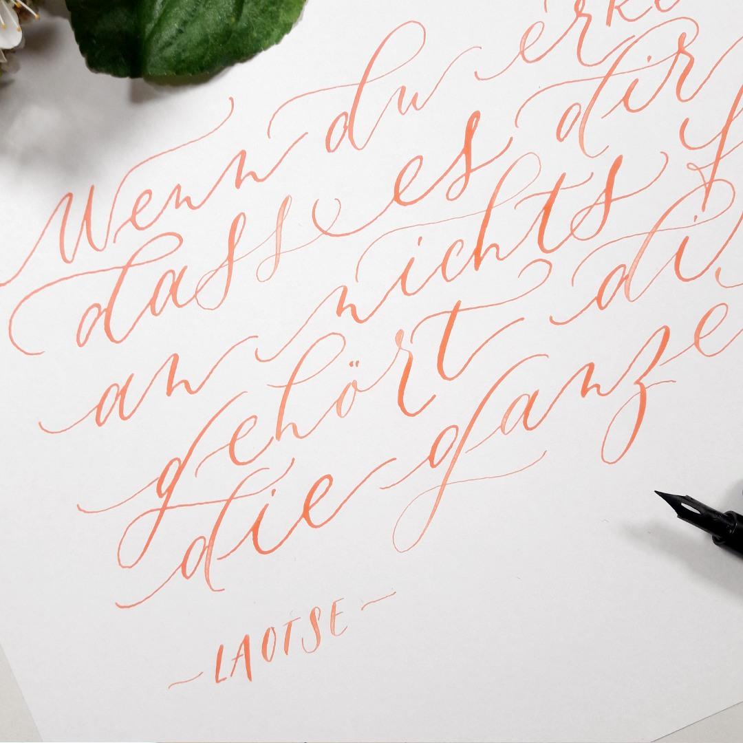 Moderne Kalligraphie lernen Stil finden schwungvoll schreiben irma link kalligraphie