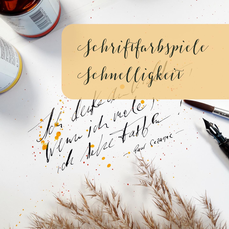 Experimentelle Kalligraphie Schriftfarbspiele Schnelligkeit Lettering Handlettering Blog creativity irma link
