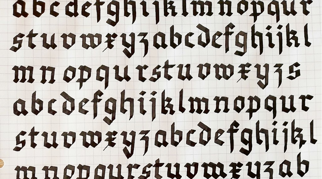 Moderne Kalligraphie als Fortgeschrittene lernen Tinas Anfänge Breitfeder Blog irma link Kalligraphie