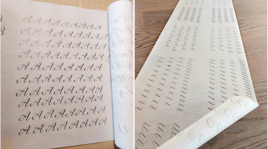 Moderne Kalligraphie als Fortgeschrittene lernen Tinas Anfänge Challenge Blog irma link Kalligraphie