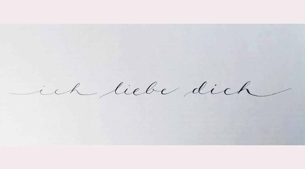Moderne Kalligraphie als Fortgeschrittene lernen Tina Stil finden Blog irma link Kalligraphie