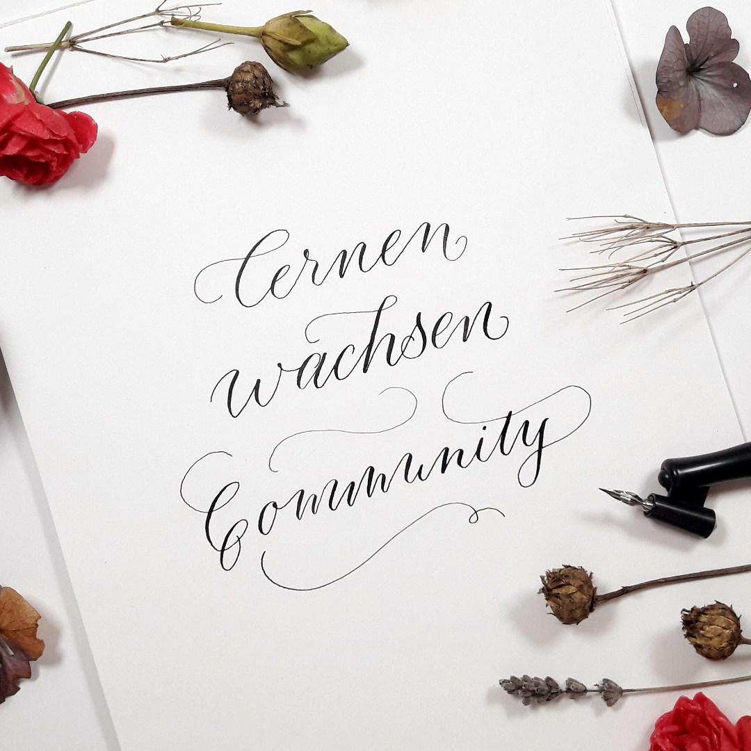 Kalligraphie Community by irma link Blog lernen wachsen