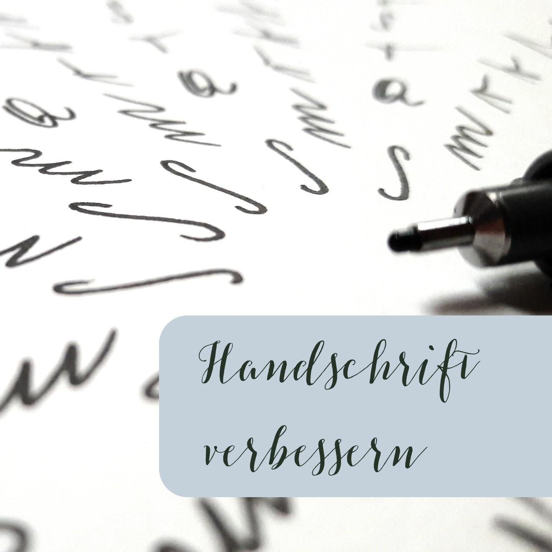 Handschrift verbessern Schönschreiben Stifthaltung verkrampfen irma link Kalligraphie