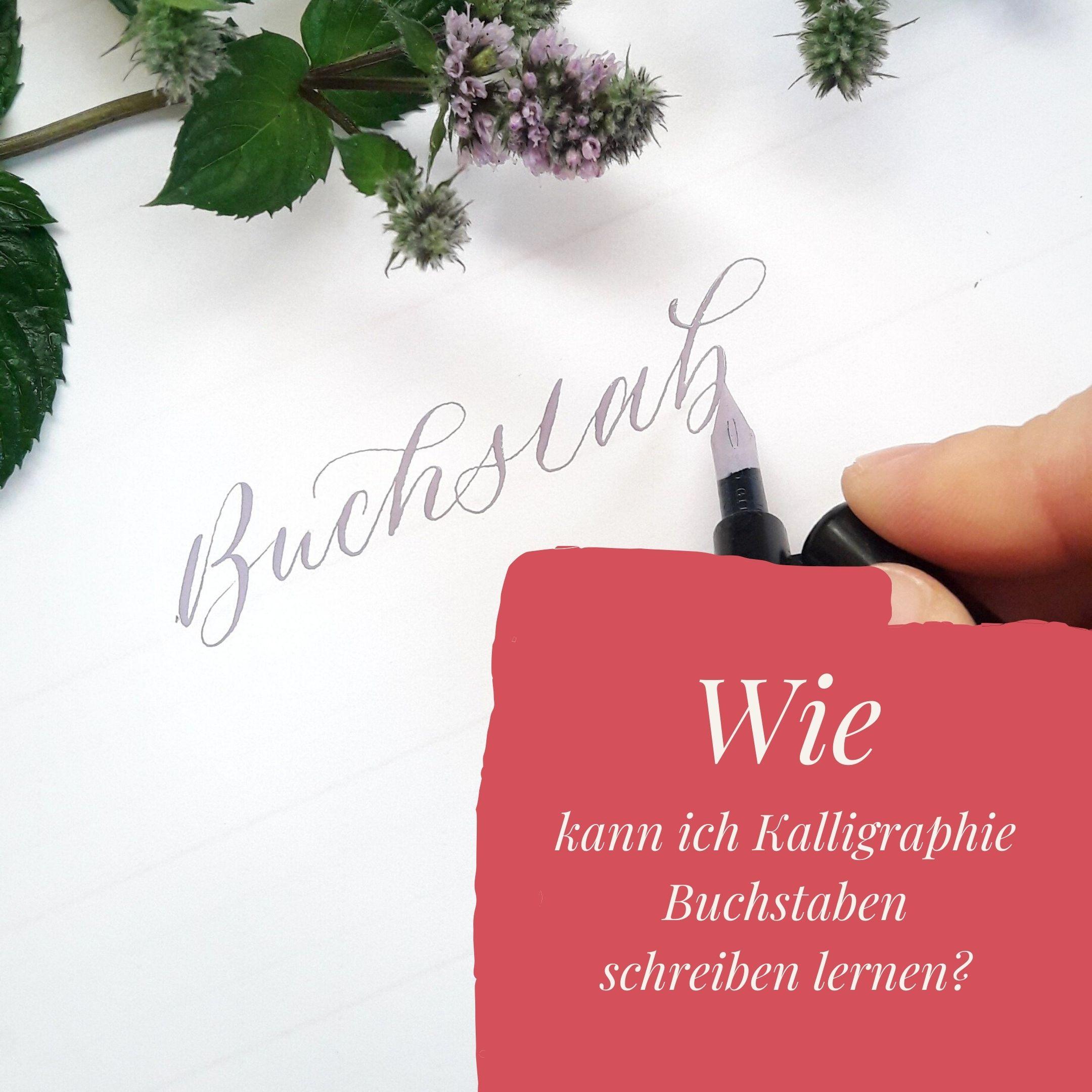 Kalligraphie Buchstaben schreiben lernen Blog irma link
