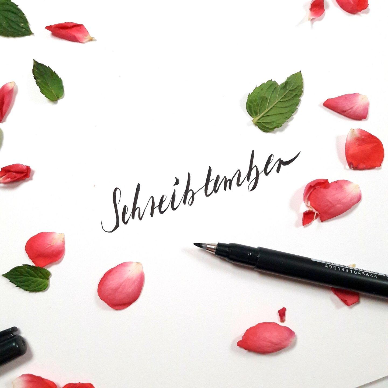 Schreibtember Handschrift verbessern Challenge 4 Aufgaben irma link kalligraphie